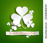 saint patrick's day greeting... | Shutterstock .eps vector #256808644