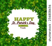 saint patricks day vector... | Shutterstock .eps vector #256808656