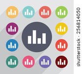 equalizer circle  flat icons...   Shutterstock . vector #256814050