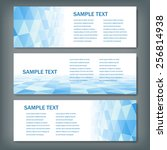 set of abstract vector banners. ... | Shutterstock .eps vector #256814938