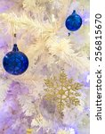 closeup of christmas ornaments... | Shutterstock . vector #256815670
