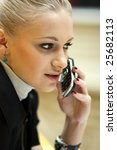 calling by phone | Shutterstock . vector #25682113