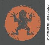 Frog Design On Grunge...
