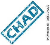 chad grunge rubber stamp on a... | Shutterstock .eps vector #256829239