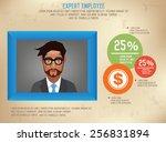 frame for businessman info... | Shutterstock .eps vector #256831894