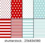 set of cute abstract seamless... | Shutterstock .eps vector #256836580