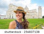 portrait of happy young woman... | Shutterstock . vector #256837138