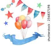 Watercolor Happy Birthday Set....