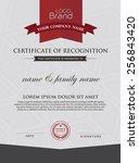 certificate template. | Shutterstock .eps vector #256843420