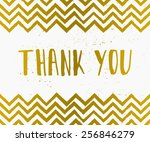 hand drawn style thank you... | Shutterstock .eps vector #256846279