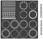 vector illustration of a set of ... | Shutterstock .eps vector #256854823
