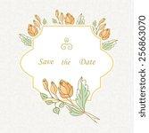 floral design.wedding card. | Shutterstock .eps vector #256863070