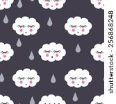 Seamless Pattern With Smiling...