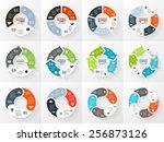 vector circle arrows... | Shutterstock .eps vector #256873126