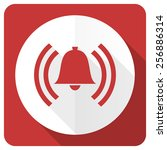 alarm red flat icon alert sign... | Shutterstock . vector #256886314
