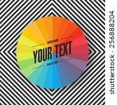 abstract minimal color wheel... | Shutterstock .eps vector #256888204