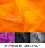 geometric abstract background | Shutterstock .eps vector #256889374