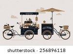 creative detailed vector street ... | Shutterstock .eps vector #256896118