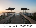 Wooden Balcony Near The Sea In...