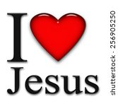 I Love Jesus  Font  Heart And...