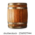 Wooden Oak Barrel Isolated On...