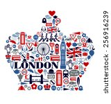 london great britain united... | Shutterstock .eps vector #256916239