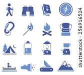 camping and backpacking icons | Shutterstock .eps vector #256916524