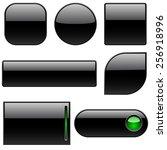 blank black plastic buttons for ... | Shutterstock . vector #256918996
