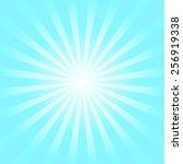 light blue shiny starburst... | Shutterstock .eps vector #256919338