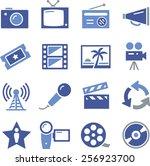 tv  film  radio and...   Shutterstock .eps vector #256923700