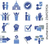 political and election icon set | Shutterstock .eps vector #256925926