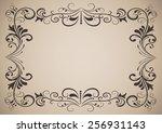 horizontal vintage ornamental... | Shutterstock . vector #256931143