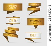 collection of golden premium... | Shutterstock .eps vector #256937248