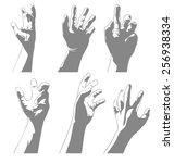vector illustration of hand set | Shutterstock .eps vector #256938334