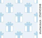 gift vector seamless pattern.... | Shutterstock .eps vector #256945348