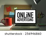 online advertising | Shutterstock . vector #256946860