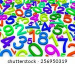 background of numbers. from... | Shutterstock . vector #256950319