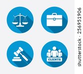 scales of justice icon. group... | Shutterstock .eps vector #256951906