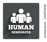 human resources sign icon. hr...