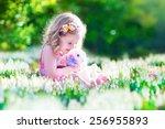 adorable little girl  cute... | Shutterstock . vector #256955893