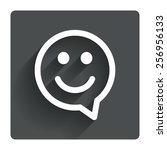 happy face chat speech bubble...