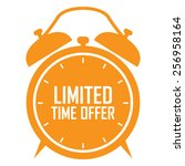 orange limited time offer on...   Shutterstock . vector #256958164