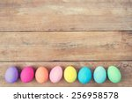 Vintage Colorful Easter Eggs O...