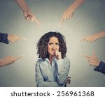 concept of social accusation of ...   Shutterstock . vector #256961368