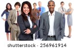 group of business people... | Shutterstock . vector #256961914