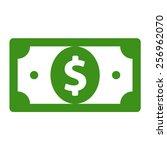 american dollar or dollar bill... | Shutterstock .eps vector #256962070