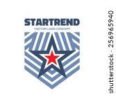 start trend   vector logo... | Shutterstock .eps vector #256965940