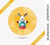 rabbit hand puppet flat icon... | Shutterstock .eps vector #256969414