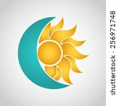 sun and moon logo. abstract... | Shutterstock .eps vector #256971748