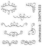 decorative design elements for... | Shutterstock .eps vector #256976533